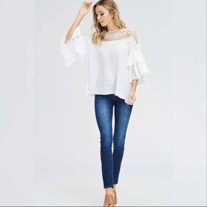 Tops - Ruffle Sleeved Blouse